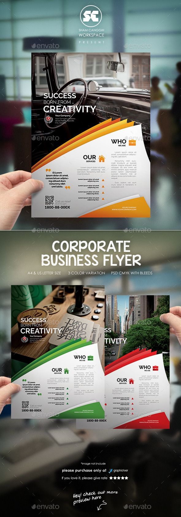 Corporate Business Flyer Template PSD #design Download: http://graphicriver.net/item/corporate-business-flyer/12837868?ref=ksioks