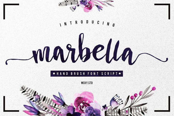Marbella Typeface Best Script Fonts Premium Fonts