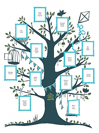 family tree. comes in two colors: turquoise or pink. $62 …