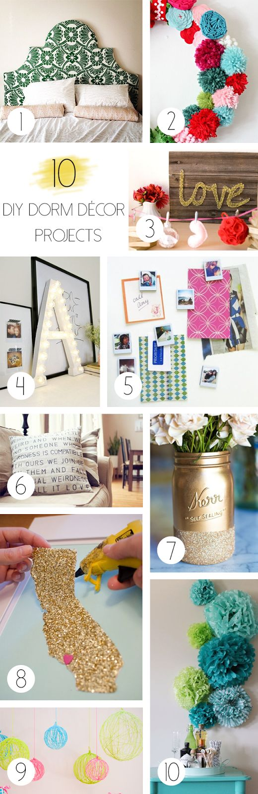 Diy Wall Art Dorm : Best ideas about dorms decor on college