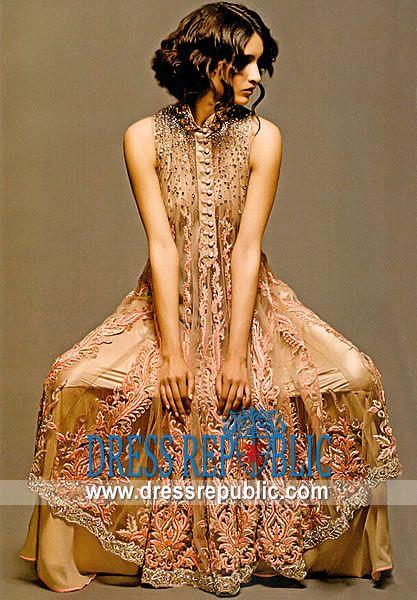 Taupe Devia, Product code: DR4619, by www.dressrepublic.com - Keywords: Punjabi Suits Online Shopping, Punjabi Suits New York, New Jersey, Punjabi Suits Online Shop