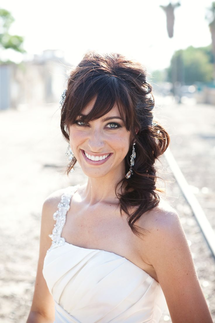 best 20+ wedding hair bangs ideas on pinterest—no signup required