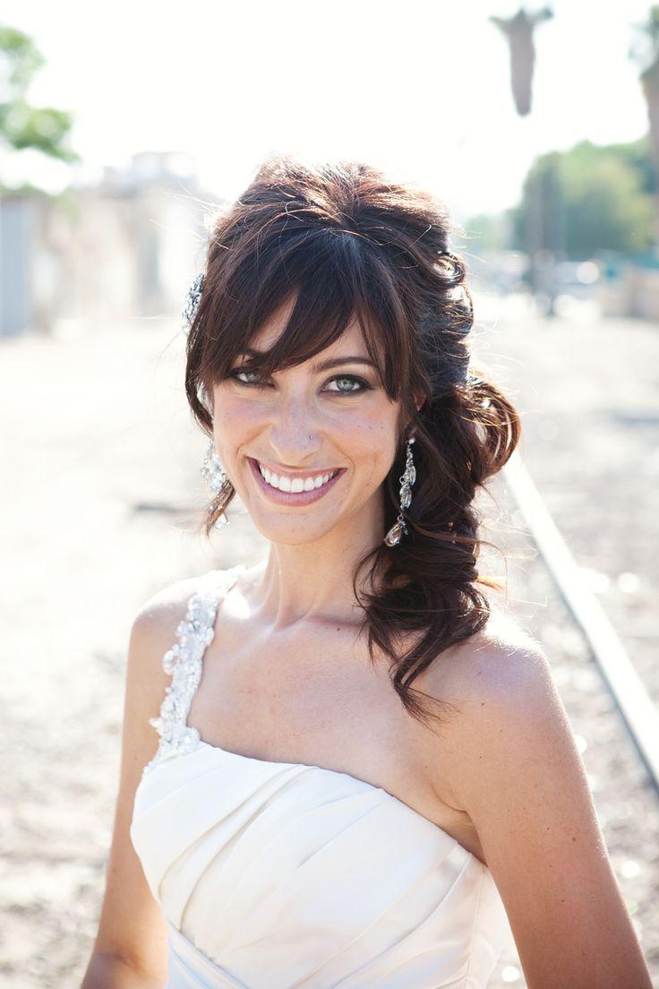 Best 25 Vintage Wedding Hairstyles Ideas On Pinterest: 25+ Best Ideas About Wedding Hair Bangs On Pinterest
