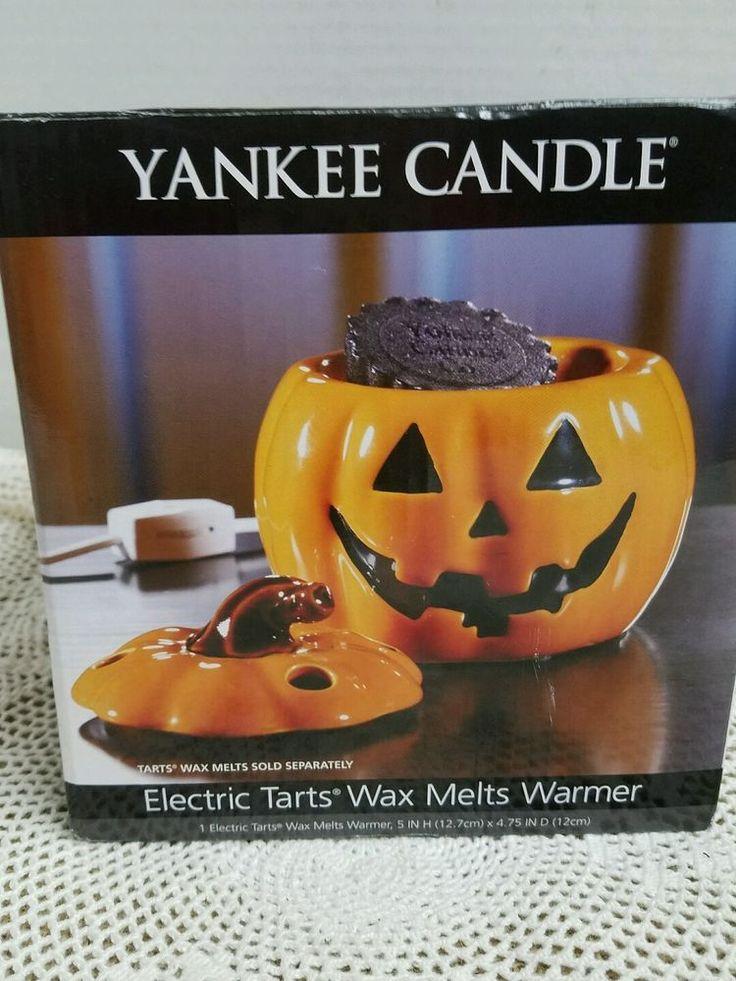 Yankee Candle Halloween Jack O Lantern Pumpkin Tart Warmer Electric #YankeeCandle #HalloweenJackOLantern