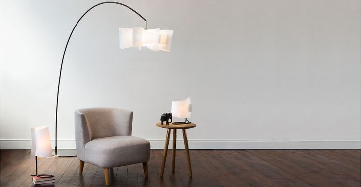 Rhapsody Curve Floor Lamp, White | made.com