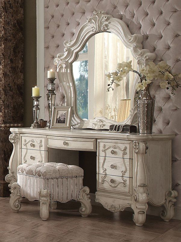 Welton Vanity Set White Vanity Table Shabby Chic Bedrooms Chic