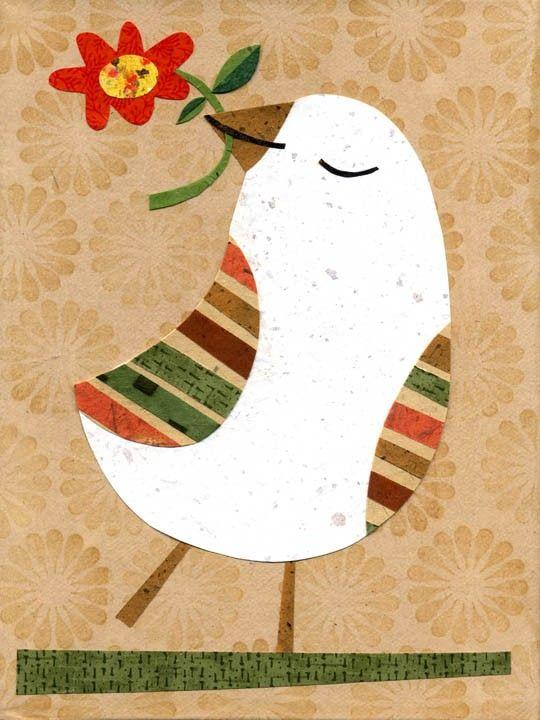 bird with flower