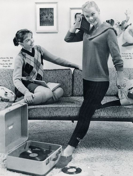 "Multi-tasking: ""Look, Kathy, I've got my record player playing, and I'm listening to the radio too!"""