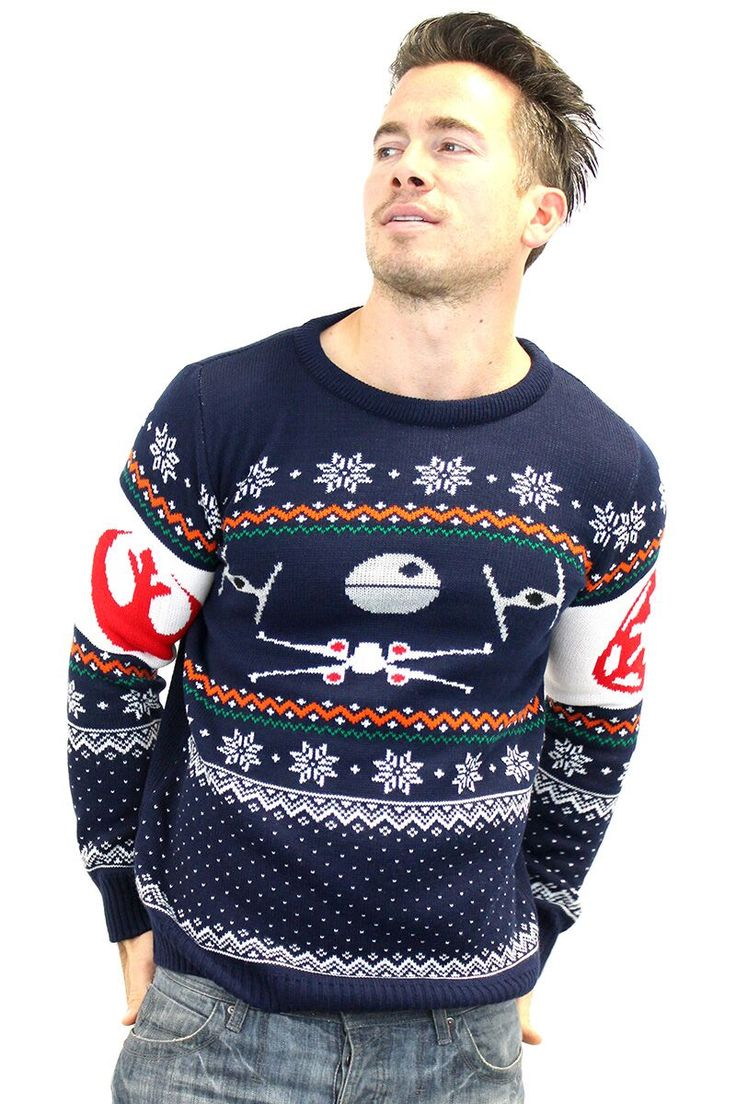 Official Star Wars Tie Fighter Vs. X-Wing Christmas Jumper | Star Wars | Yellow Bulldog
