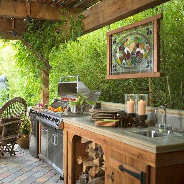 318 best Outdoor kitchen images on Pinterest Outdoor kitchens - küche aus paletten