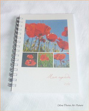 Agenda de poche coquelicots 2016 de Céline Photos Art Nature