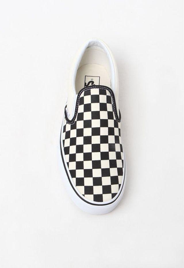 Pacsun vans women checkboard slip on platform sneaker  0e087901f