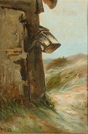 Michael Ancher - Storm Lantern on a Hook at the Wall of a Fisherman's Cottage