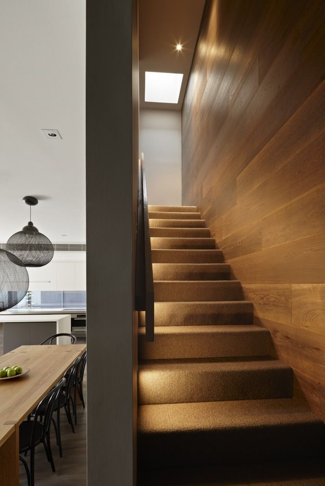 Middle Park House by pleysier perkins. I'm loving this polish floorboard staircase wall!