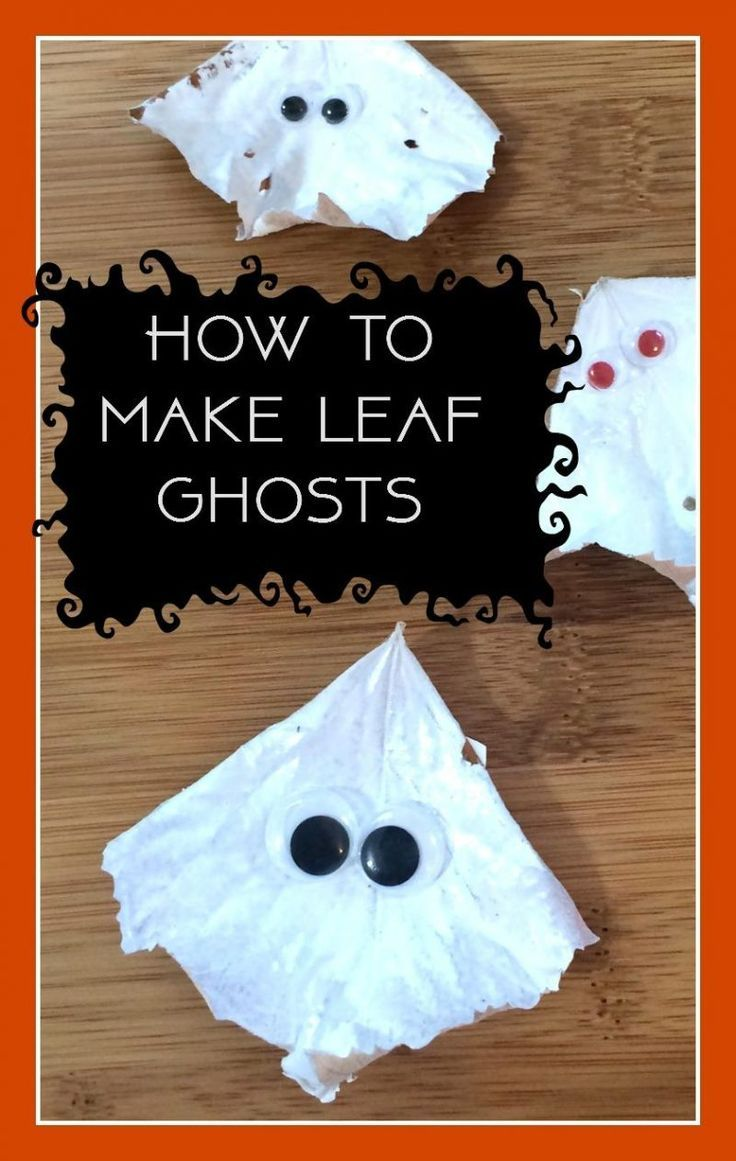 Leaf Ghosts – A thrifty and fun Halloween nature craft