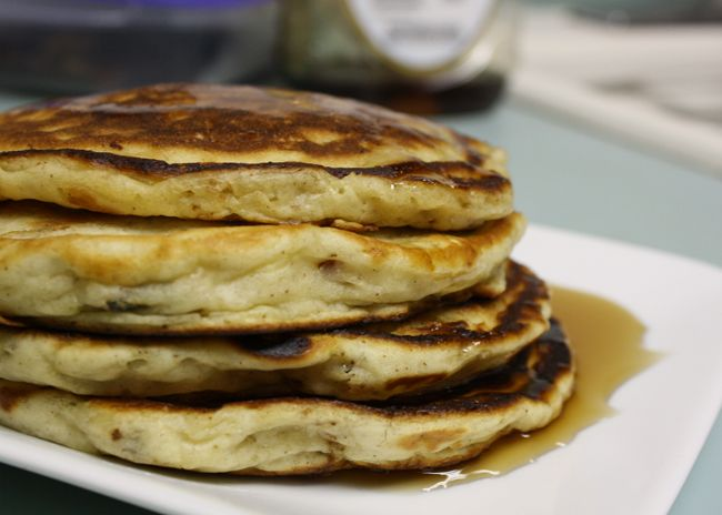 bacon banana buttermilk pancakes | breakfast | Pinterest