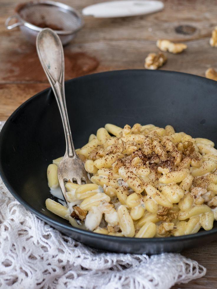 Pasta gorgonzola e noci al cacao