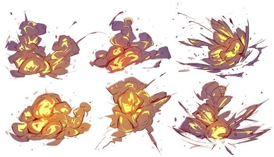 Explosions animated animation