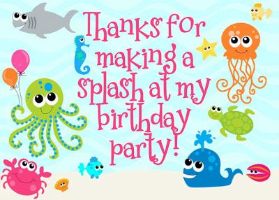 FREE Under the Sea Birthday Party Printables