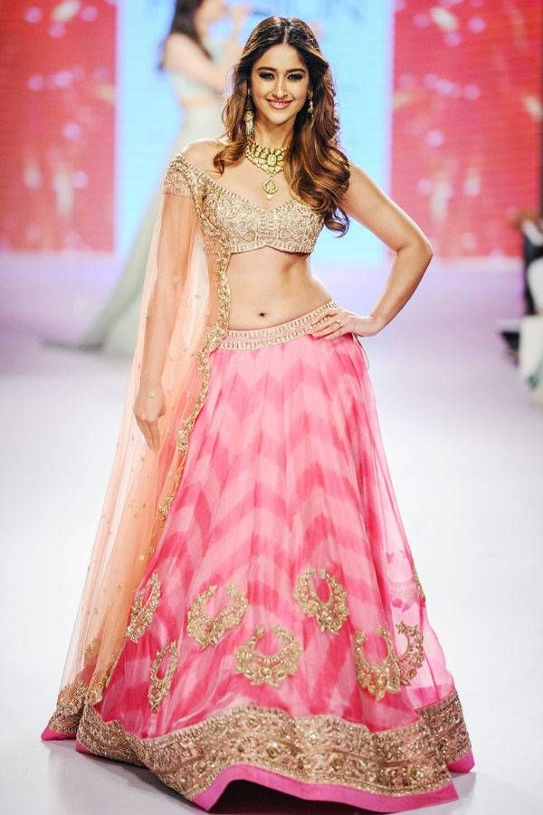 Bollywood actress Ileana D'Cruz showcases a creation by designer Anushree Reddy on Day 5 of the Lakme Fashion Week (LFW) Summer Resort 2015, held in Mumbai. (BCCL/Tejas Kudtarkar) See more of : Ileana D'cruz