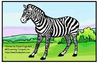 Alphabet Sight Word Reader - Zany Zebra-   Focus Letter Zz