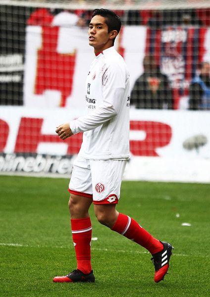 Yoshinori Muto of FSV Mainz 05 before the Bundesliga match between 1. FSV Mainz 05 and FC Schalke 04 at Opel Arena on March 19, 2017 in Mainz, Germany.