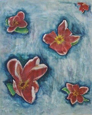 Red Flowers Original Artwork by Sophie Walker