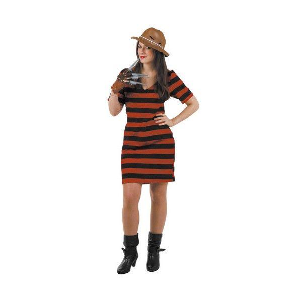 DisfracesMimo, disfraz freddy krugger mujer talla m/l.Autentico disfraz de Freddy Mujer, acompañale a krueger y juntos sereis la pesadilla del terror de la fiesta.Este disfraz es ideal para tus fiestas temáticas de disfraces de terror y miedo para mujer adulto.