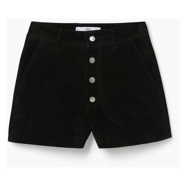 MANGO Leather Shorts (1,860 PHP) ❤ liked on Polyvore featuring shorts, leather shorts and mango shorts