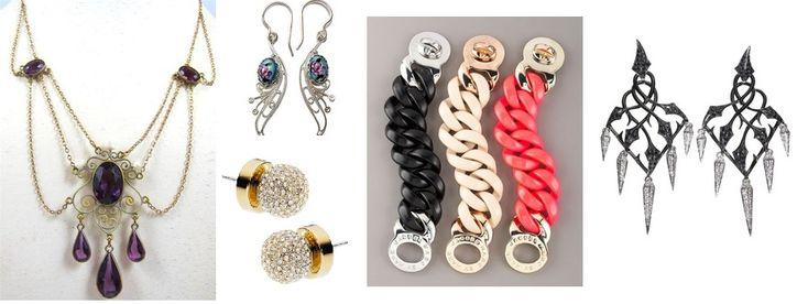 Unikać: biżuteria antyczna, ozdobne rokokowe dekoracje, ciężkie i duże barokowe, klasyczne i zbyt masywne w stylu dramatic.