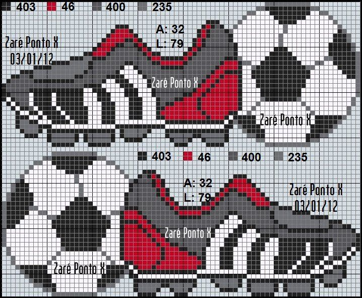 Soccer - Football perler bead pattern