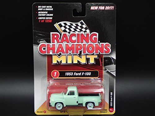 1953 FORD F 100 2017 RACING CHAMPIONS MINT RELEASE 2 VER A 1 OF 1256 COLLECTIBLE DIECAST MODEL CAR. #FORD #RACING #CHAMPIONS #MINT #RELEASE #COLLECTIBLE #DIECAST #MODEL