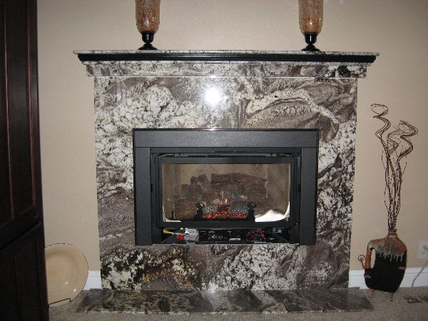 granite fireplace - Fireplace Surround Ideas