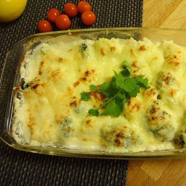 Edel's Mat & Vin : Gratinert blomkål & brokkoli !
