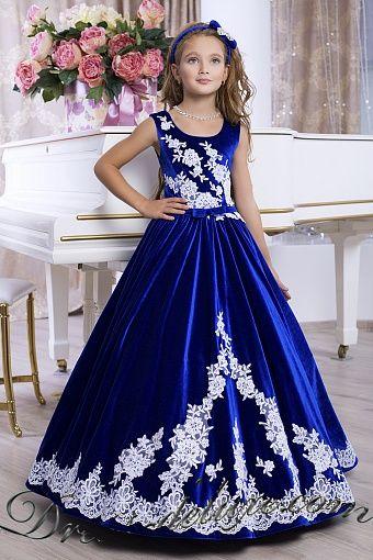 04cd965846f9abe Платье Элеонора. Цвет синий. - Детские нарядные платья Бальные Длинные  Платья, Детская Мода