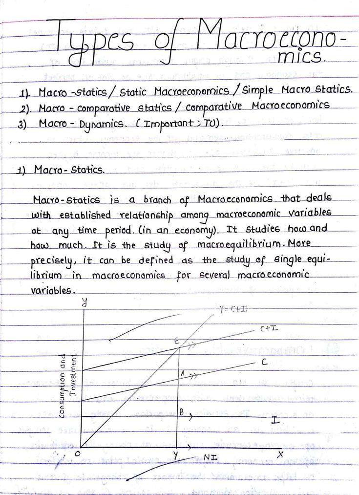 Macro Statics, Comparative Statics, and Dynamics Study
