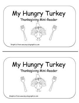 My Hungry Turkey- Thanksgiving Emergent Reader *Freebie*