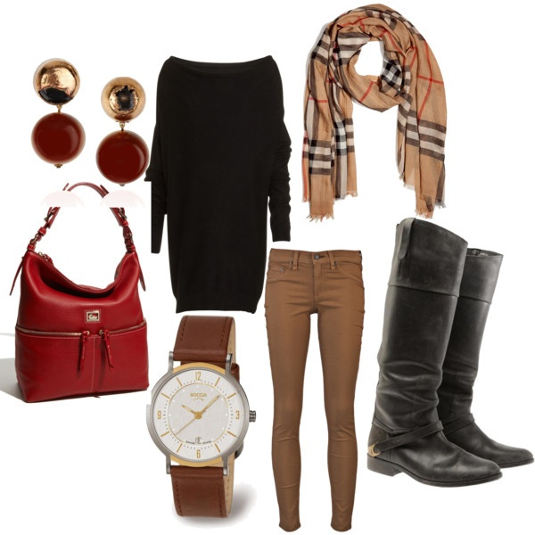 casual outfitFashion, Casual Outfit, Casual Chic, Burberry Scarf, Comfy Casual, Style Pinboard, Scarves, Clothing Please, Sweater Scarf