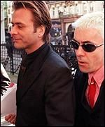 [ image: John Keeble and Steve Norman: Suing their former colleague]
