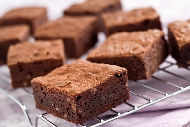Triple chocolate brownies recipe.