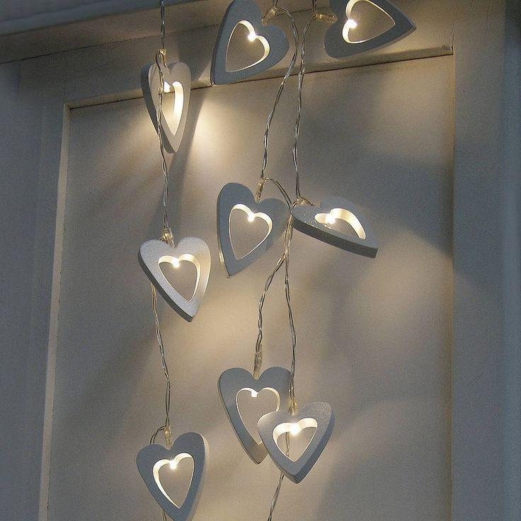 heart light garland by red lilly | notonthehighstreet.com