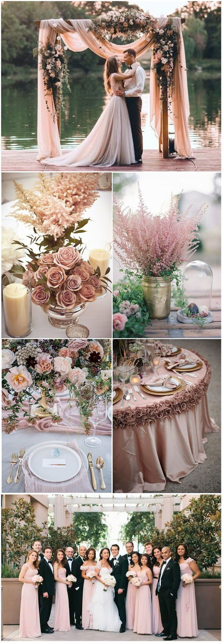 18 Romantic Dusty Rose Wedding Color Ideas for 2018 #Weddings #weddingcolors #weddingideas