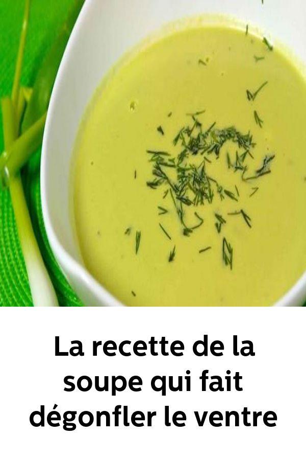 La recette de la soupe qui fait dégonfler le ventre