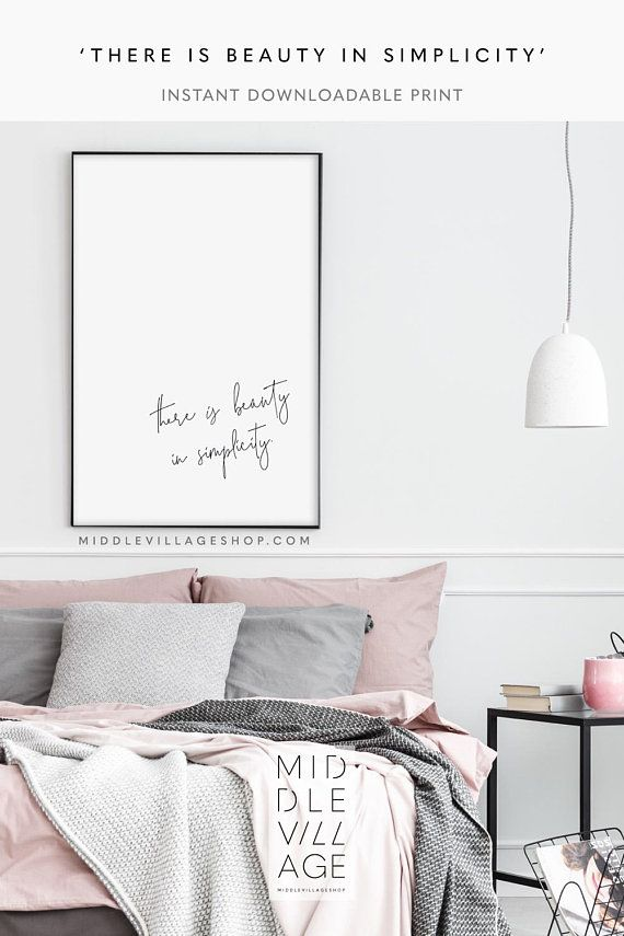 There Is Beauty In Simplicity Minimalist Able Print