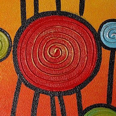 Hand geschilderd olieverfschilderij Bloemen Landschap - EUR € 49.49