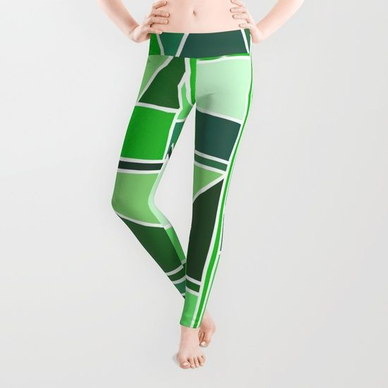 Kaku Green Leggings by Fimbis   Society6  #yoga #yogapants #fashion #style #coloroftheyear #colouroftheyear #geometric