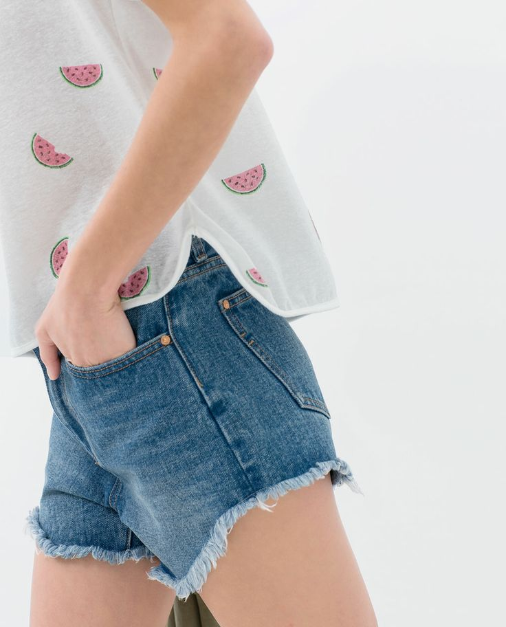 Image 5 of WATERMELON PRINT CROP T-SHIRT from Zara