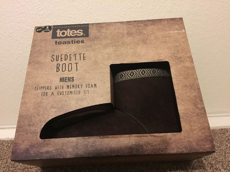 TOTES Men's Boots Slippers BNWT RRP £25