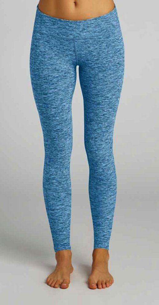 NEW: Salt & Pepper Long Legging by BEYOND YOGA in Deep Sea Blue Spacedye