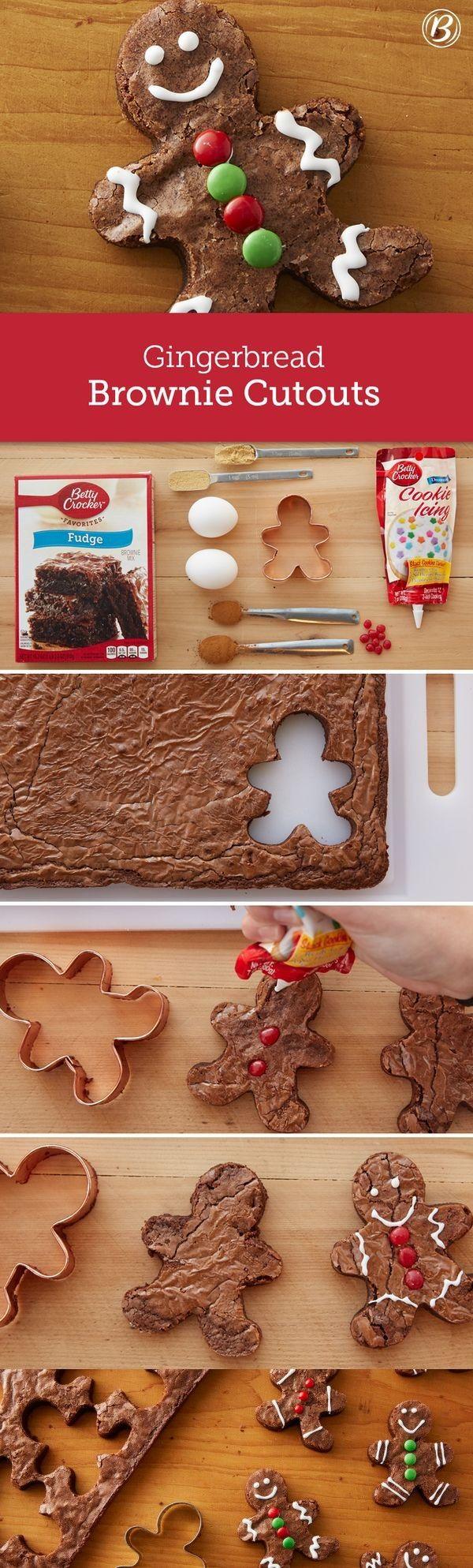 Gingerbread Brownie Cutouts